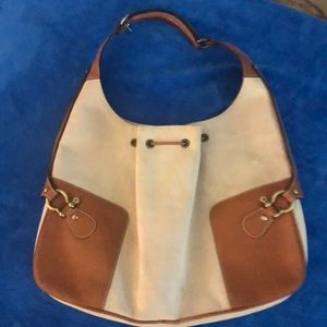 Burberry Handbag in like a canvas material
